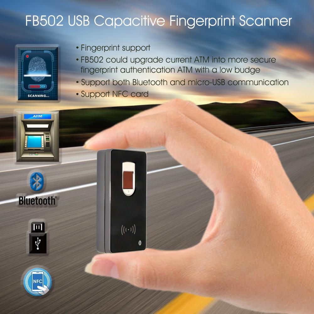 Portable Handheld Wireless Bluetooth Biometric Fingerprint