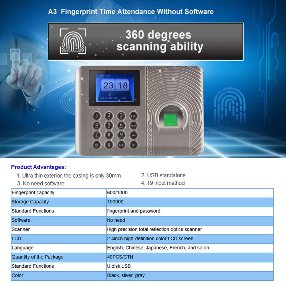 Simple Biometric Fingerprint Time Attendance System Software free