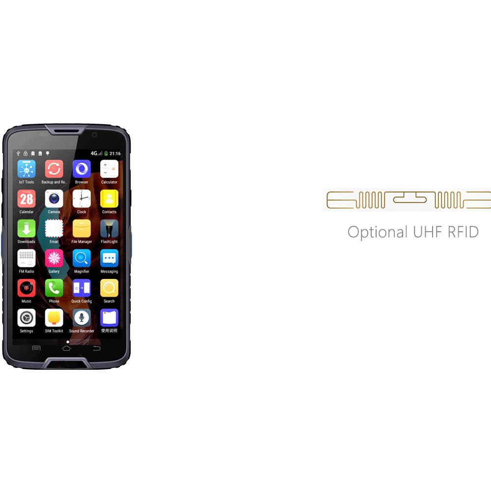 Logistic RFID UHF Android Handheld Barcode Reader Terminal